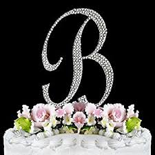 b cake topper rhinestone cake topper letter b by other kitchen dining