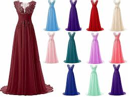 awesome 2018 long chiffon bridesmaid formal gown ball party