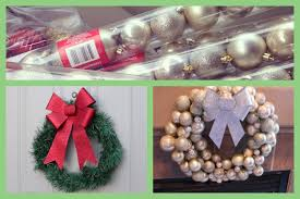 craftychristmas one diy ornament wreath and dollar store