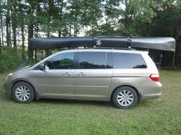 honda odyssey roof rails bwca canoe car rack boundary waters gear forum