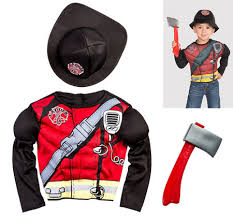 Fireman Halloween Costume Toddler Toddler Boys Reflective Firefighter Costume Party