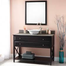 White Bathroom Vanity With Vessel Sink Black Bathroom Vanity With Vessel Sink White 47 Imposing Black