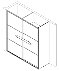 how to draw a sliding door in a floor plan installation guide for sliding wardrobe door