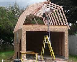 gambrel roof garages framing our gambrel roof garage portland garage builders