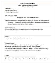 free employment contract template word 83 samples csat co