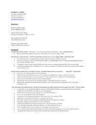 Sample Resume Objectives Hospitality Management by Resume Template Medical Office Assistant