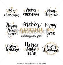 set merry happy stock vector 334416263