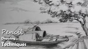 pencil landscape drawings tutorial how to sketch trees stepstep