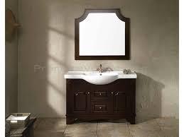 classic wooden dark vanity ideas with astounding modern white sink