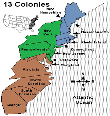 map of colonies map of the middle and southern colonies map
