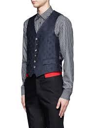 motorcycle waistcoat alexander mcqueen skull print waistcoat in blue for men lyst