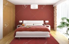 Modern Bedrooms Interior Design Interior Design Of Modern Bedroom In Red White And Wood With
