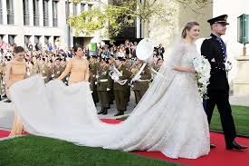 elie saab wedding dresses in fact it s worthy of real royals princess stéphanie of