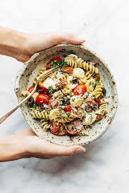 best easy italian pasta salad recipe pinch of yum