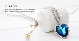 love crystal necklace images Gorgeous titanic ocean blue love heart austrian php