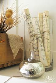 Decorate A Vase Easy To Make Romantic Sheet Music Decorating Projects Diy Vintage