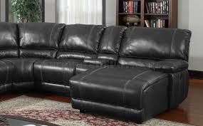Motion Sectional Sofa 6pc Motion Sectional Sofa Black Bonded Leather By Global