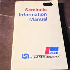 piper pa 44 180 seminole pilot u0027s information manual circa 1978