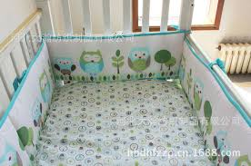 wholesale happy owls and friends cute baby crib bedding set cot