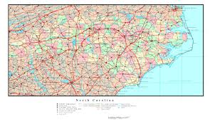 Map Of Carolinas Large Detailed Administrative Map Of North Carolina State With