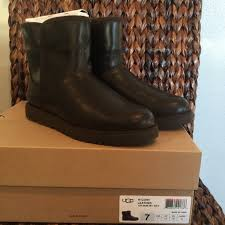 ugg boots sale leather 44 ugg shoes sale ugg leather mini boots in stout