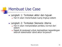 membuat use case skenario analisis kebutuhan pl dan spesifikasi pl ppt download