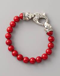red beads bracelet images Lyst stephen webster red coral bead bracelet 10mm in metallic jpeg
