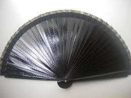 held fan fan wood folding fan size options black