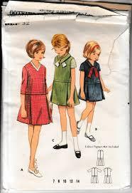 butterick 4044 girls saillor jumper dress vintage 1960 u0027s sewing