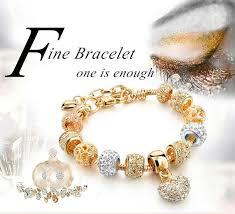 bracelet color crystal images Gold color crystal heart charm bracelets 2018 madam winston jpg