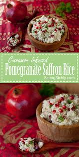 pomegranate saffron rice recipe eating richly