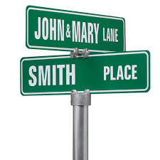 Menards Address Plaques by Personalized One Sided Street Sign Custom Street Signs Miles