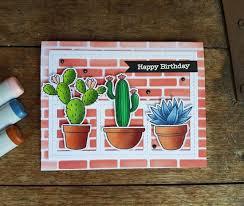 Challenge Plant Pot Card Cactus Cacti Plants Plant Pot Pots Mft Blueprints 27 Die