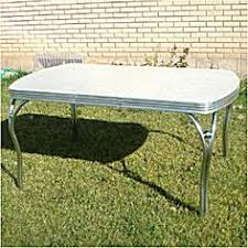 Vintage S Kitchen Dinette Set Table  Chair Silver Gray - Chrome kitchen table