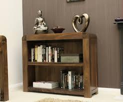 low narrow bookcase baumhaus shiro walnut low bookcase amazon co uk kitchen u0026 home
