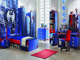 extraordinary boys bedroom style with blue and red colours theme extraordinary boys bedroom style with blue and red colours theme and computer set