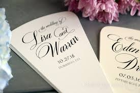 wedding ceremony program 4 blade petal program fan heart style wedding ceremony programs