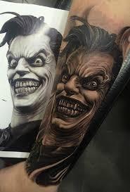mer enn 25 bra ideer om joker tattoos på pinterest harley quinn