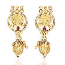 kempu earrings buy spargz antique gold plating kempu choker laxmi coin