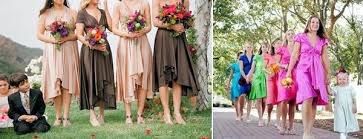 bridesmaids dresses different styles and colours
