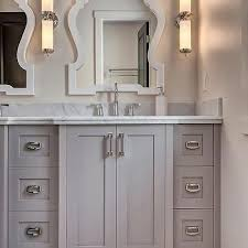 bathroom with industrial pendants cottage bathroom