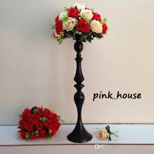 Tall Metal Vases For Wedding Centerpieces by 2017 New Elegant Tall Metal Black Color Flower Stand Flower Vase
