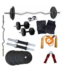 wolphy 10kg home gym with dumbbell rods u0026 1 3ft curl rod buy