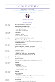 Film Resume Example by Animation Resume Samples Visualcv Resume Samples Database