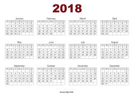 printable calendar year on one page printable 2018 one page calendar roberto mattni co