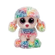 amazon ty 37223 beanie boos rainbow dog reg small toys u0026 games