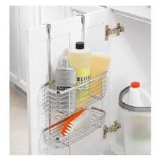 Kitchen Cabinet Door Storage by Cabinet Kitchen Storage Organizer Basket 2 Tier Chrome Over
