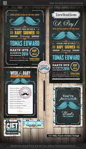 mustache baby shower invitations mustache baby shower invitation by katzeline graphicriver