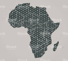 Africa Continent Map by Africa Continent Map With Stars And Ornaments Including Country