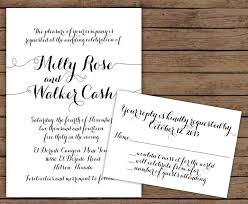 modern calligraphy wedding invitation with rsvp 2570390 weddbook